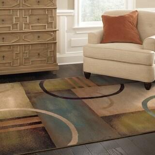 """Porch & Den Sheldon Beige Abstract Area Rug - 5' x 7'6"""""""