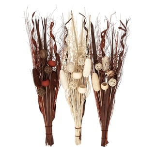 Copper Grove Seymour Dried Floral Bunch (Set of 3)