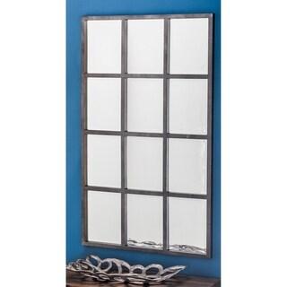 Carbon Loft Mackintosh Grid Metal Wall Mirror - Grey
