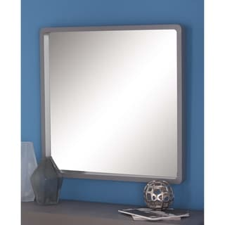 Porch & Den Merrie Lynn Grey Square Wall Mirror