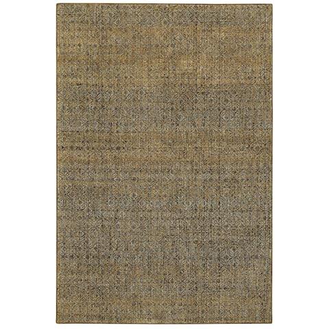 """Porch & Den Meinecke Golden Textural Area Rug - 8'6"""" x 11'7"""""""