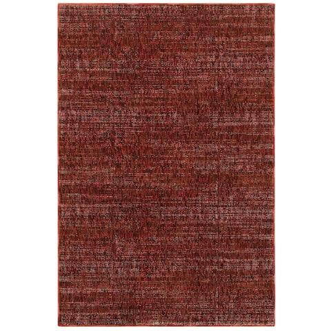 """Porch & Den Melville Red Tonal Area Rug - 8'6"""" x 11'7"""""""