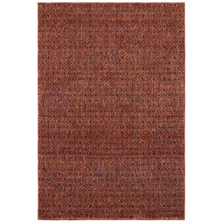 "Porch & Den Meinecke Red Textural Area Rug - 1'10"" x 3'3"""