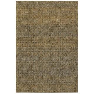 """Porch & Den Meinecke Golden Textural Area Rug - 1'10"""" x 3'3"""""""