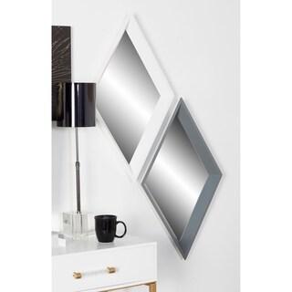 Porch & Den Merrie Lynn White Geometric Wall Mirrors (Set of 3)