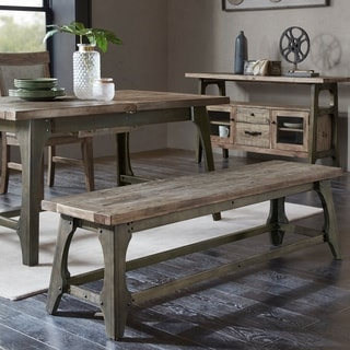 INK IVY Oliver Grey Dining Bench