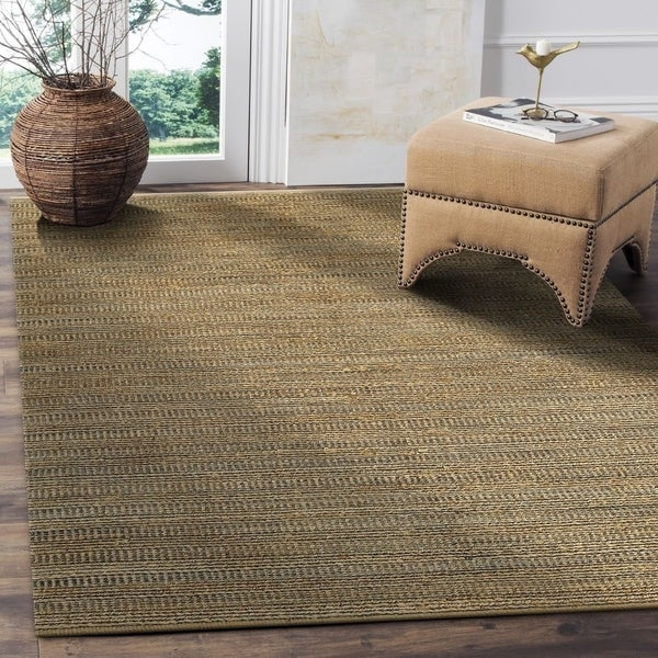 LR Home Hand Loomed Natural Fiber Sonora Gray Jute/ Chenille Rug - 5' x 7'9""
