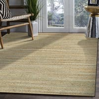 LR Home Hand Loomed Natural Fiber Sonora Spa Blue Jute/ Chenille Rug - 5' x 7'9""