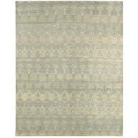 "LR Home Oushak Modern Distressed Gray Blue Area Rug (5'6"" x 8'6"") - 5'6 x 8'6"