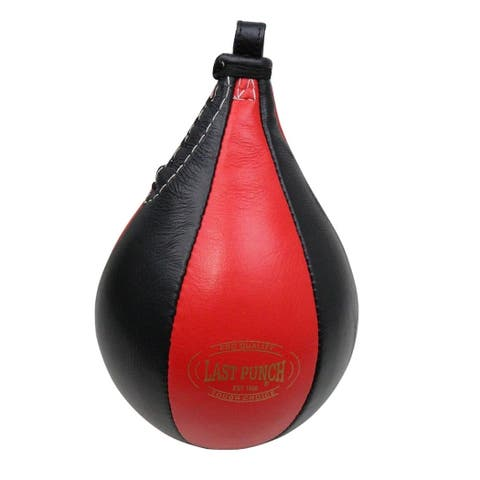 Last Punch Black & Red Boxing Punching Speedball & Heavy Duty Bearing Steel Speedball Swivel