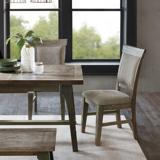 INK IVY Oliver Natural/Grey Dining Side Chair(Set of 2pcs)