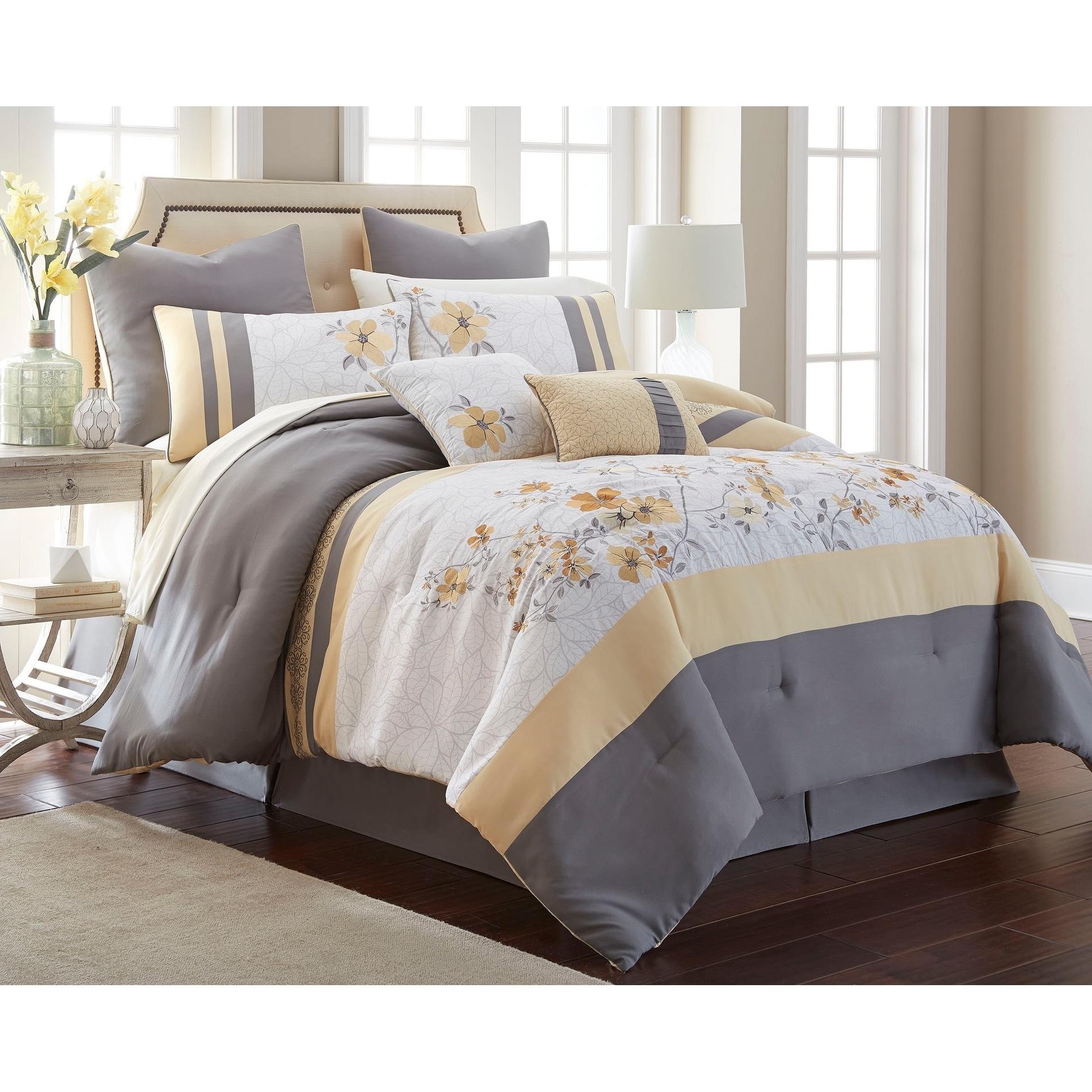 Comforter Sets Queen.Shop Dahlia 12 Piece Comforter Set Queen On Sale Overstock