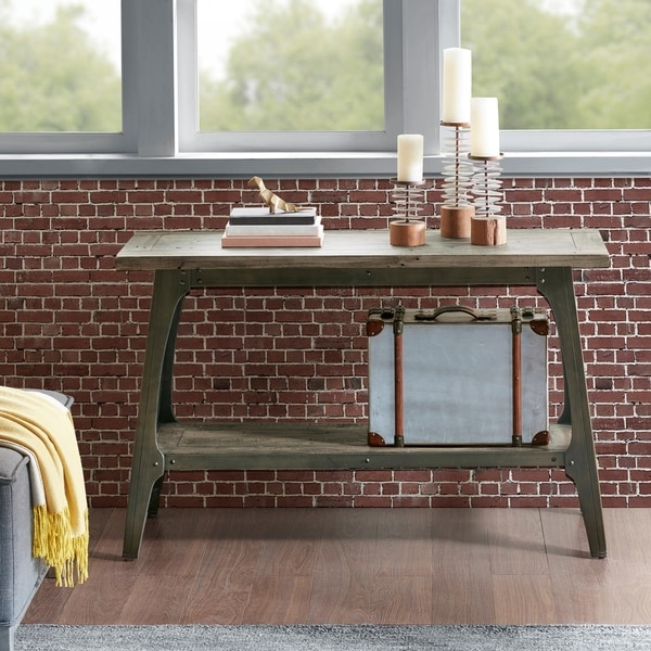 INK IVY Oliver Grey Console Table