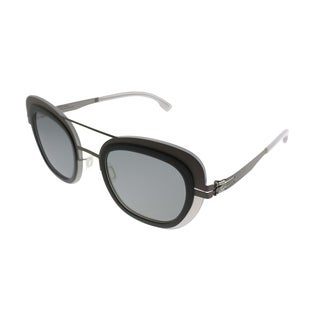 ic! Berlin Cat-Eye Chichi Women Ash-Quartz Frame Quicksilver Lens Sunglasses
