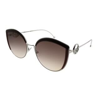 Fendi Cat-Eye FF 0290 F is Fendi LHF Women Opal Burgundy Frame Brown Gradient Lens Sunglasses