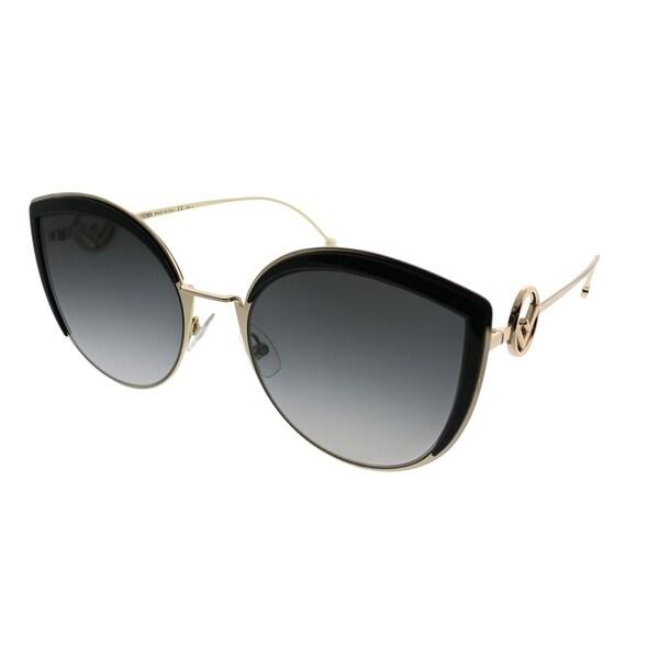 d6cfa85586 Fendi Cat-Eye FF 0290 F is Fendi 807 Women Black Frame Grey Gradient Lens