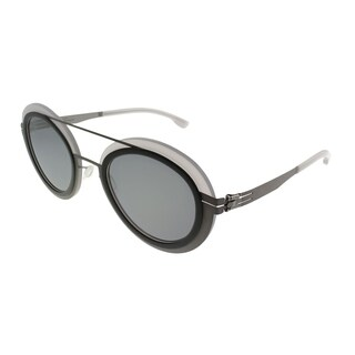 ic! Berlin Round Cancan Women Ash-Quartz Frame Quicksilver Lens Sunglasses