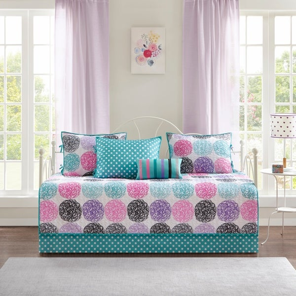 Mi Zone Audrina Purple Reversible 6 Piece Daybed Set. Opens flyout.