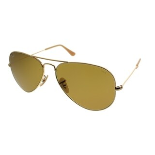 Ray-Ban Aviator RB 3025 Classic Aviator 90644I Unisex Gold Frame Brown Photochromic Evolve Lens Sunglasses