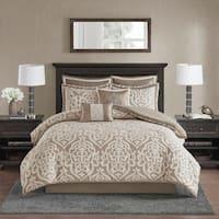 Madison Park Dillon Silver 8 Piece Jacquard Comforter Set