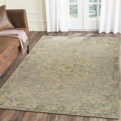 LR Home Hand Tufted Modern Traditions Estate Beige Wool/ Cotton Rug - 8' x 10'