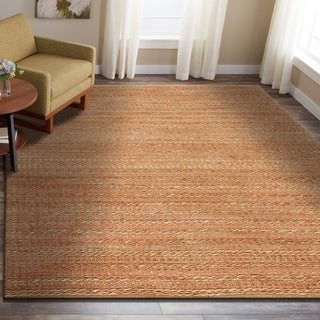 LR Home Hand Woven Natural Fiber Ryder Fusion Coral Jute/ Chenille Rug - 9' x 12'