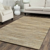 LR Home Hand Loomed Natural Fiber Sonora Navy Jute/ Chenille Rug - 9' x 12'