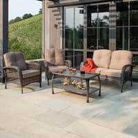 Corvus Padova 4-piece Wicker Patio Chat Set