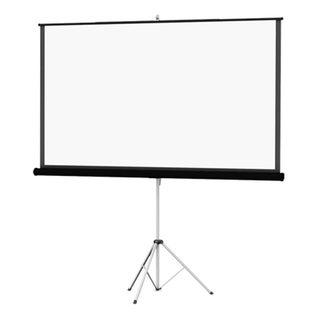 "Da-Lite Picture King with Keystone Eliminatior Rugged Tripod and Protable Projection Screen 69""x92"" - White"