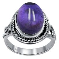 Handmade Sterling Silver 'Traditional Romantic' Gemstone Ring