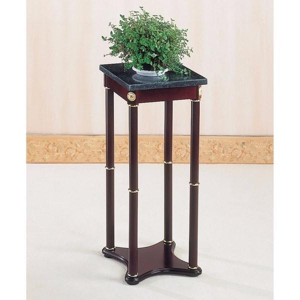 Effortlessly Versatile Accent Plant stand, Merlot Brown