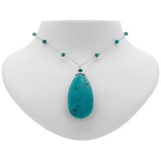 Romilly Howlite Turquoise Wrapped Chain Necklace