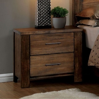 Elkton Transitional Night Stand In Oak Finish