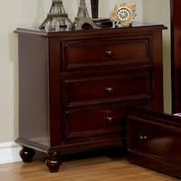 Wooden Night Stand With 2 Drawers, Dark Brown