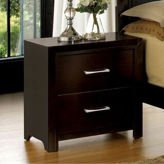 Janine Transitional Night Stand In Espresso Finish
