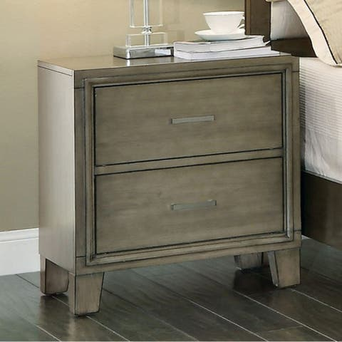 Enrico I Contemporary Style Night Stand, Gray Finish