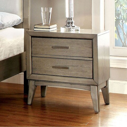 Snyder II Contemporary Night Stand In Gray