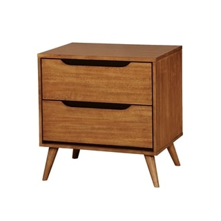 Lennart Mid-Century Modern Nightstand, Light Oak