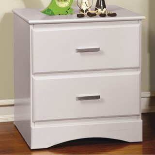 Prismo Transitional Style Night Stand, White