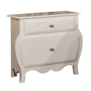 Roxana Transitional Nightstand, White Finish