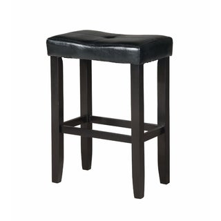 Wooden Counter Height Stool (Set of 2), Black