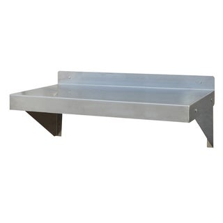 """Offex 24"""" Silver Brushed Stainless Steel Work Shelf"""