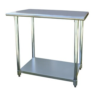 """Offex Stainless Steel Cook and Work Table 24"""" x 36"""" - Silver"""