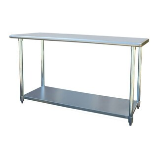 """Offex Stainless Steel Cook and Work Table 24"""" x 60"""" - Silver"""