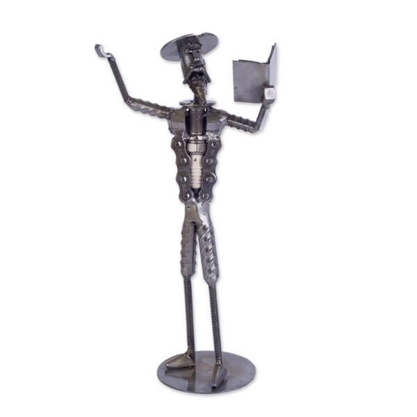 Shop Recycled Metal Sculpture, \'Don Quixote Reciting Verses\' - Peru ...