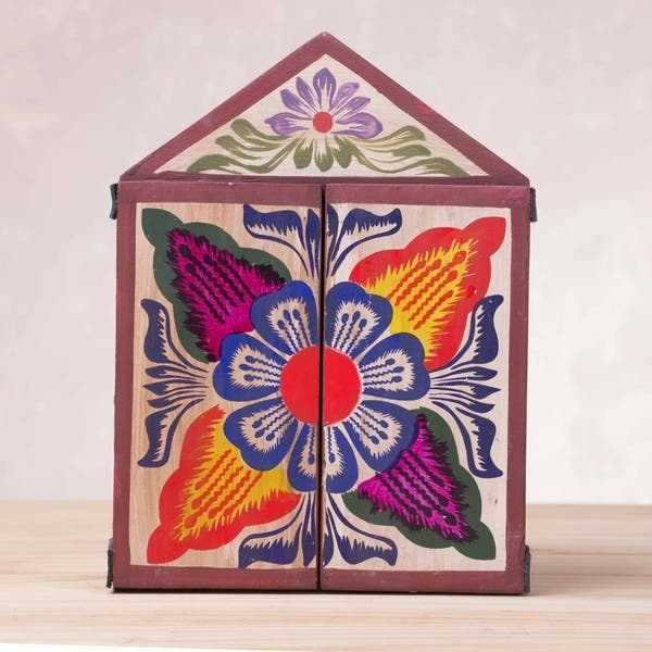 Handmade Wood Retablo Gallery Of Masks Peru Overstock 21420323