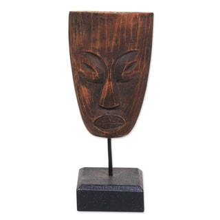 Wood Statuette, 'Ancient Lombok' - Indonesia