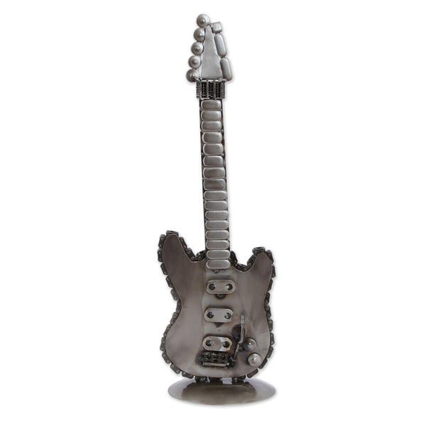 Recycled Auto Parts Sculpture, 'Guitar Glory' - Mexico