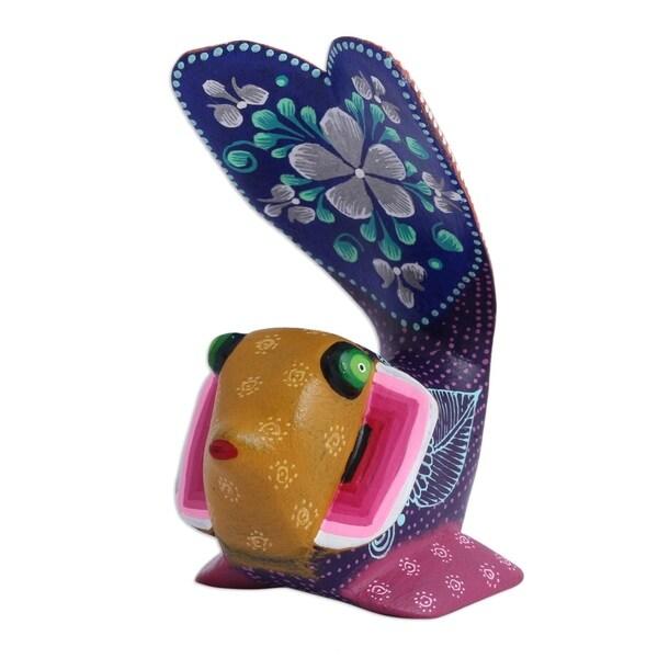 Wood Alebrije Figurine, 'Otherworldly Fish' - Mexico