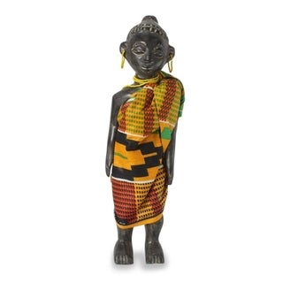 Wood Sculpture, 'Ghana Queen Mother' - Ghana